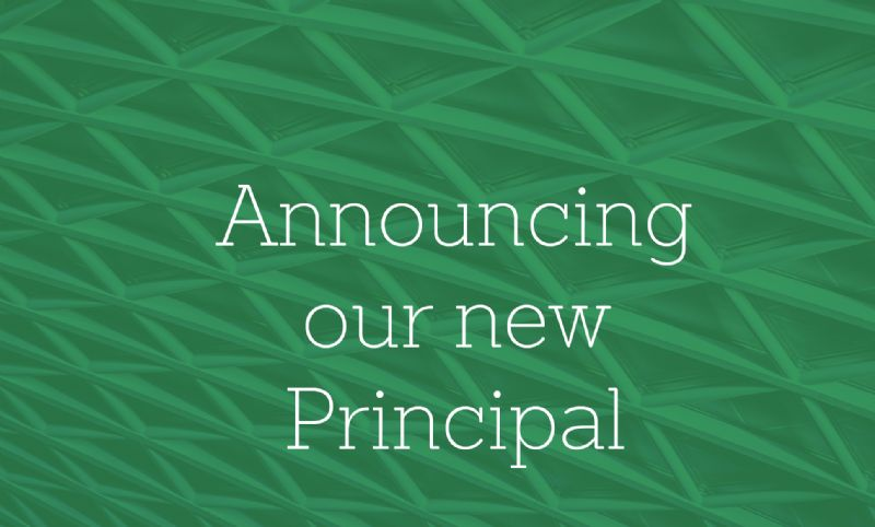 Announcing our new Principal